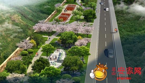 规划区与植物园间的生态景观轴,以及规划区与眉山老城区间的岷东二桥