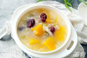 家常菜:南瓜绿豆红枣粥的做法