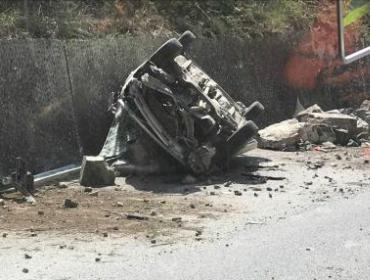 四川九寨沟发生7.0级地震 沿途看到的受损汽车
