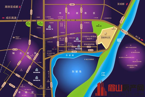 眉山凯旋国际公馆区位图