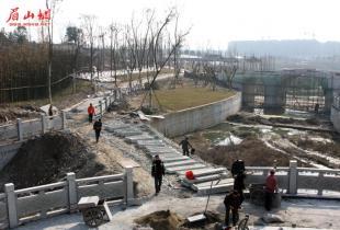东坡城市湿地公园二期、苏母公园要完工啦