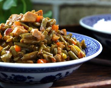 下饭菜:酸豇豆炒肉丁的做法