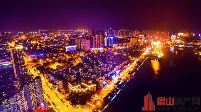 眉山城市夜景图