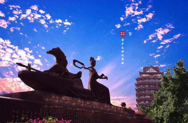 《箫声常伴远景楼》——朱晓飞 【摄影师每日一图赞眉山】
