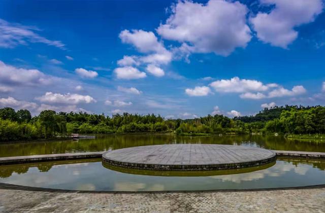 《青神竹林湿地公园》——蓝城 【摄影师每日一图赞眉山】