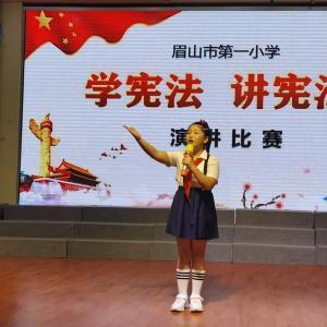 """乔晨菲:在""""学宪法 讲宪法""""演讲比赛中又获奖啦"""